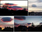 nuages lenticulaires, ou altoculumulus lenticularis